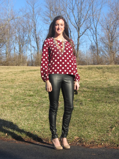 Leather & Polka Dots 1