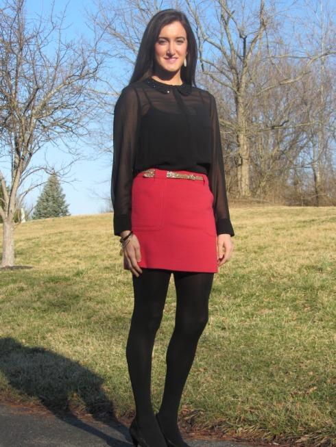Kensie blouse, J.Crew skirt