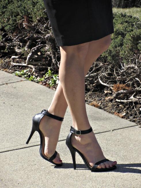 Lulu's Anne Michelle Enzo Ankle Strap Heels