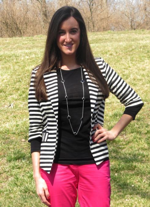 Monteau striped blazer