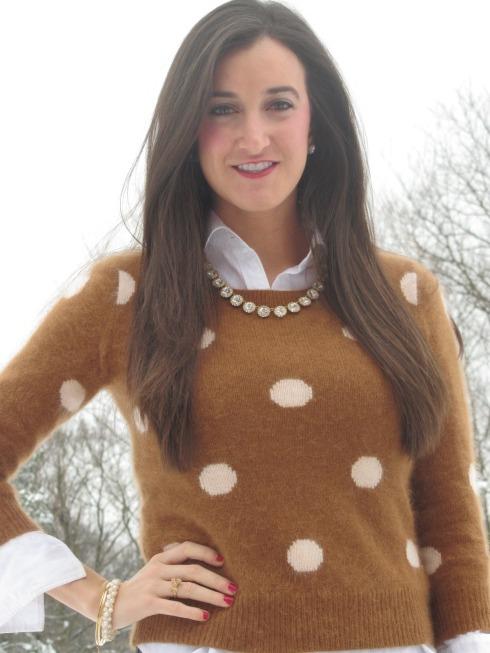 Brown Madewell Polka Dot Sweater