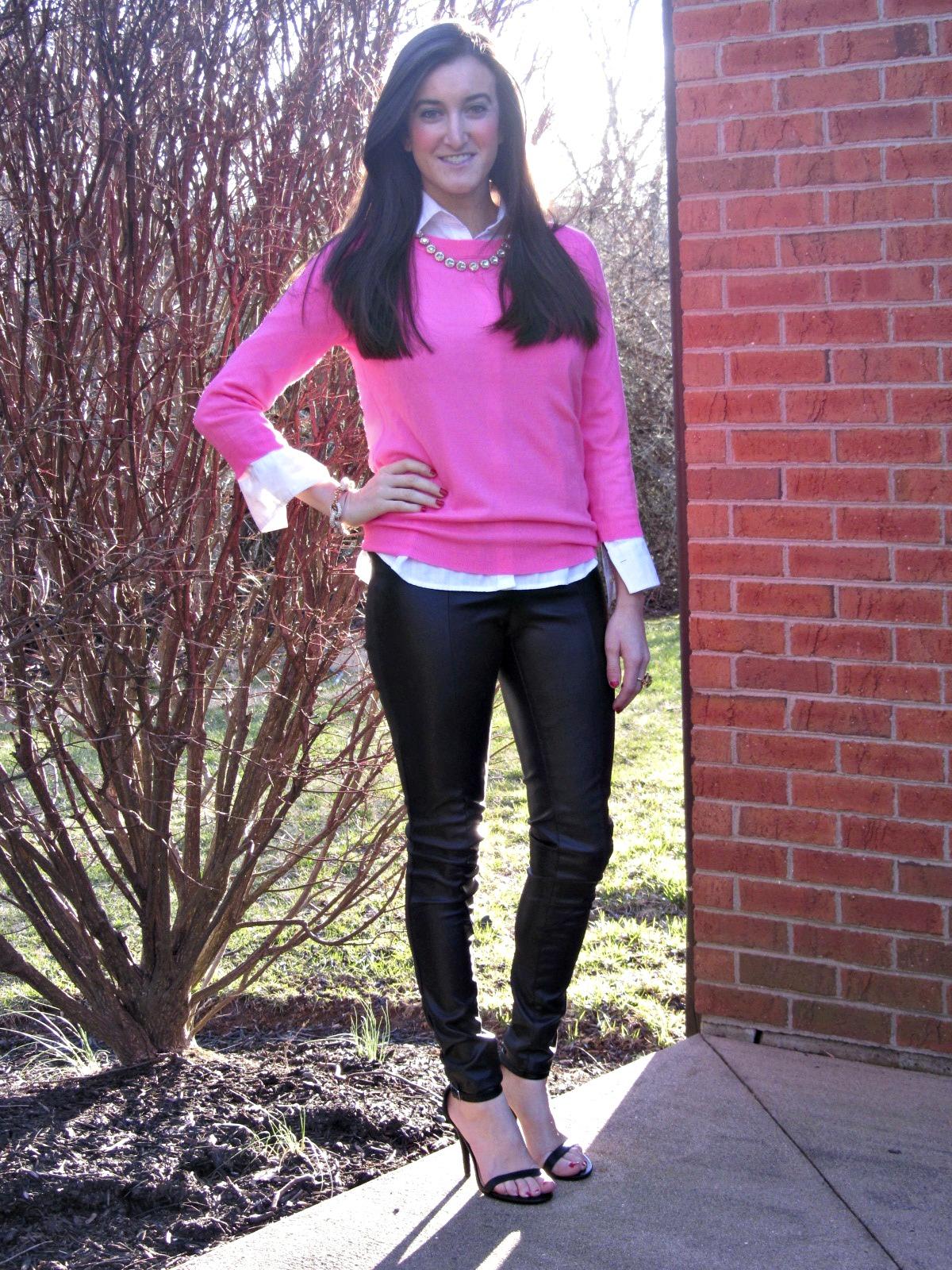 H&m Leather Pants J.crew Pink