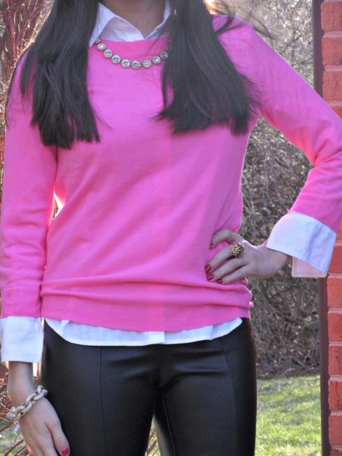 J.Crew Hot Pink Sweater