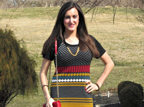 Colorful Knit Dress