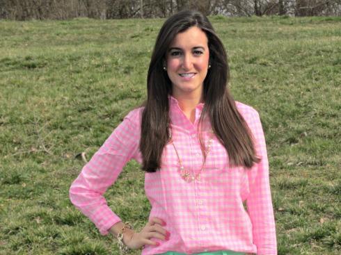 J.Crew Pink Gingham Shirt