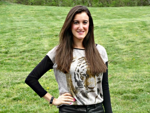 Chelsea and Violet tiger shirt Dillard's