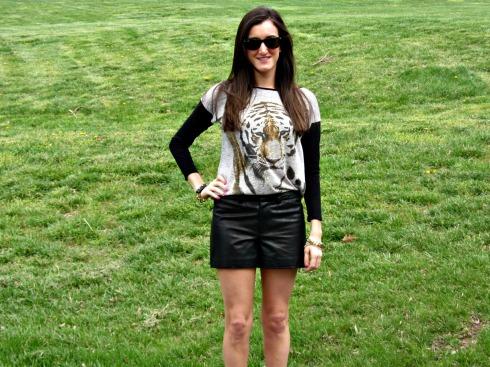Gianni Bini Leather Shorts