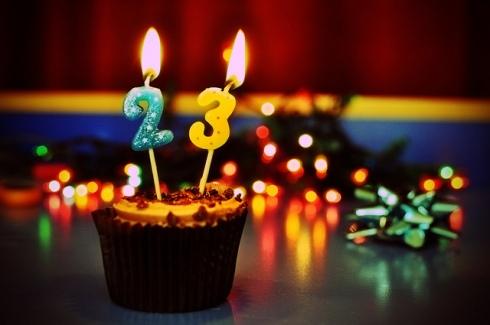 '23' Birthday Candles