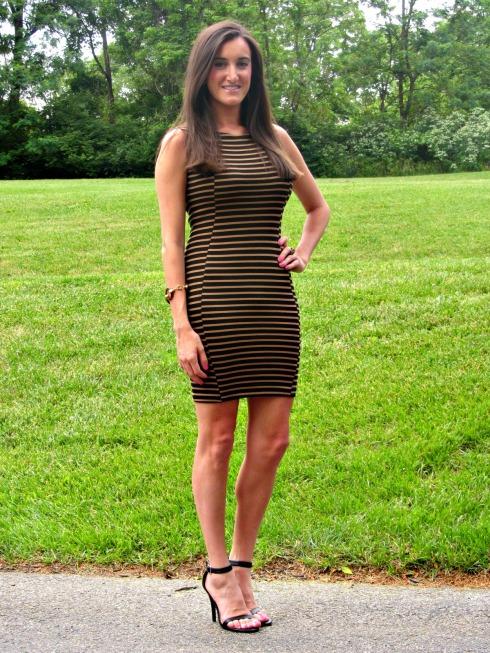Bar lII Striped Bodycon Dress