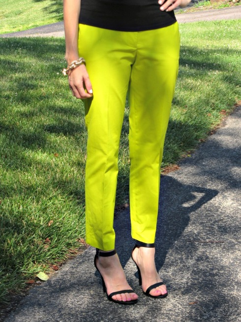 J.Crew Neon Green Cafe Capri Pants