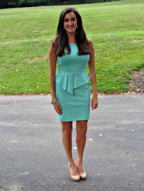 Bar III Mint Peplum Dress