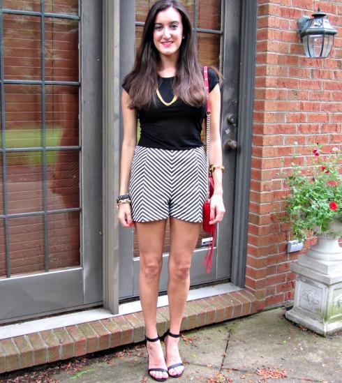 Bar III High Waisted Chevron Shorts