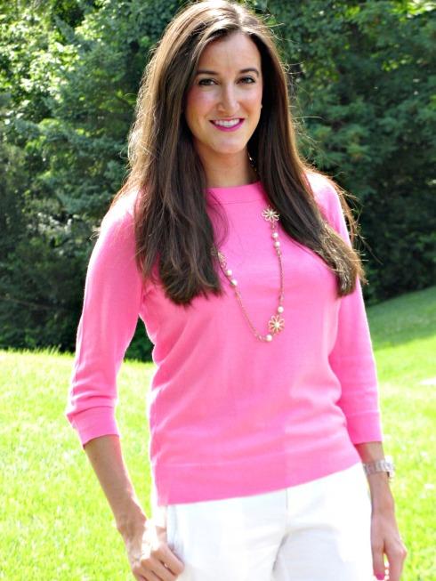 Neon Pink J.Crew Sweater