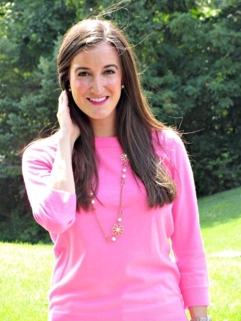 J.Crew Pink Neon Sweater