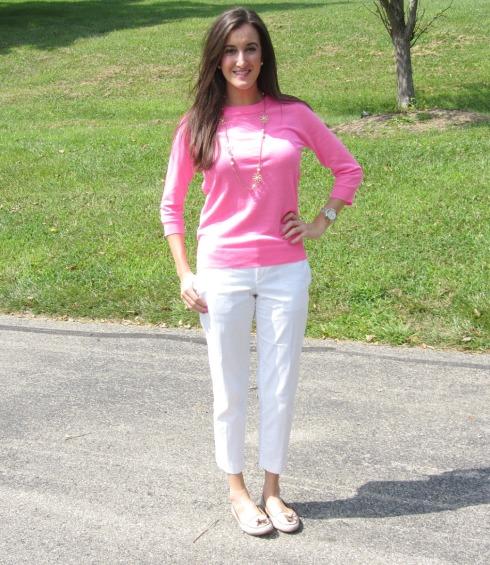 J.Crew Neon Pink Sweater