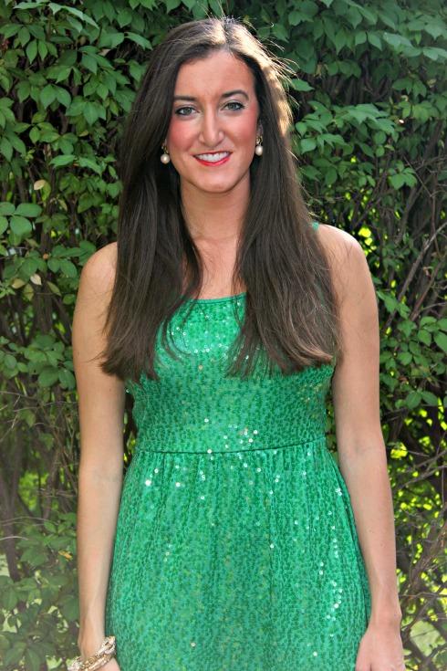 Kensie Green Sequin Dress
