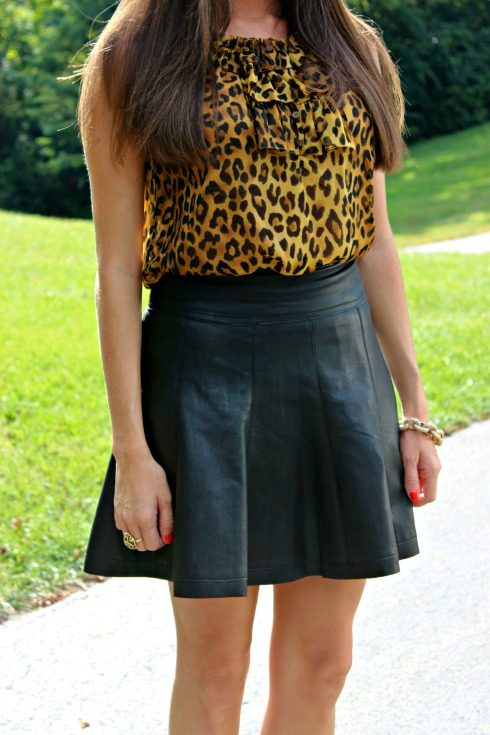 Leather and Leopard Outfit