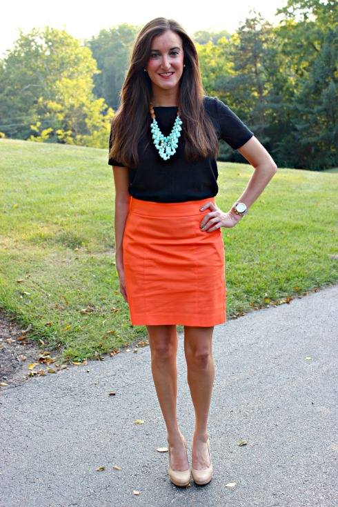 Orange and Black Work Outfit