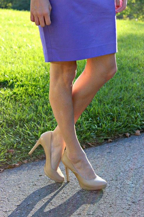 Pencil Skirt, Nude Pumps
