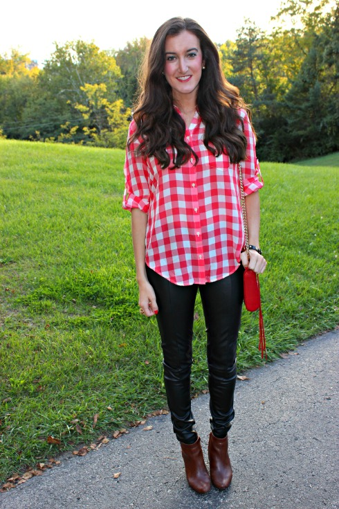 Casual Leather Pants Outfit