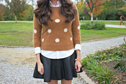 Madewell Polka Dot Sweater