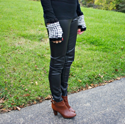 Leather Pants and Brown Booties