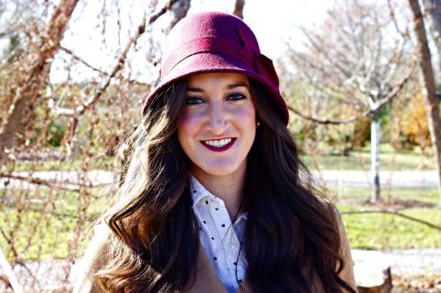 Nordstrom Burgundy Cloche Hat