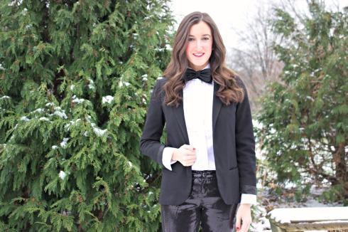 Girl Wearing Bow Tie