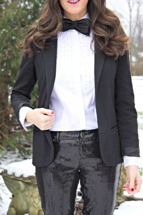 Women's Tuxedo Bow Tie