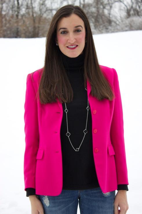 How To Wear Pink Blazer