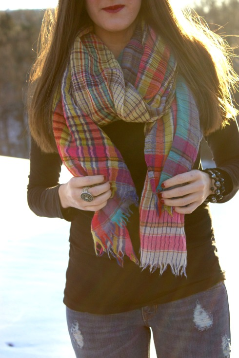 Colorful Anthropologie Scarf