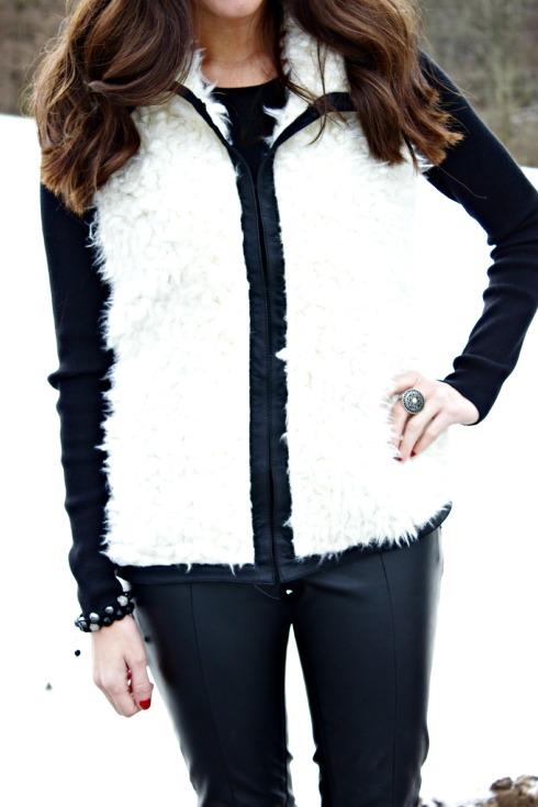 Faux Fur Lamb Vest