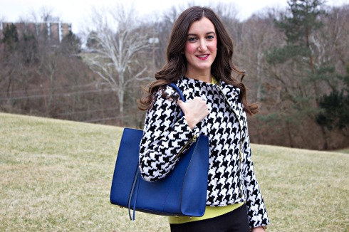 Rebecca Minkoff Tote Houndstooth Jacket