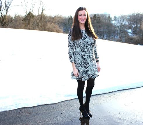 DKNY Leopard Print Dress