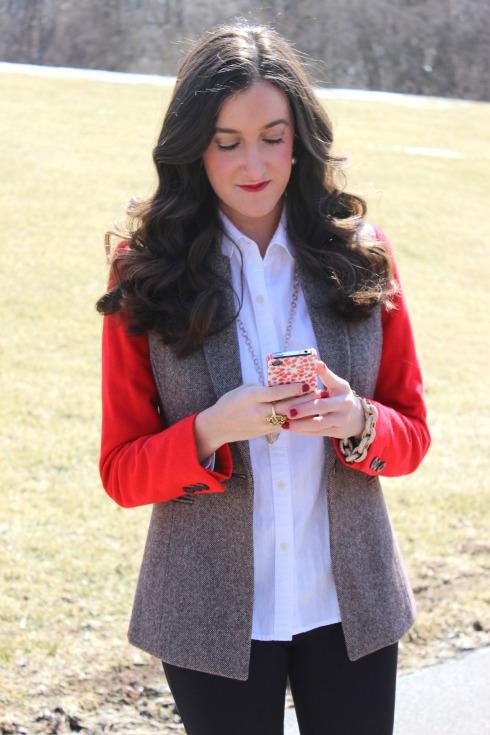 Cremieux Colorblock Tweed Blazer