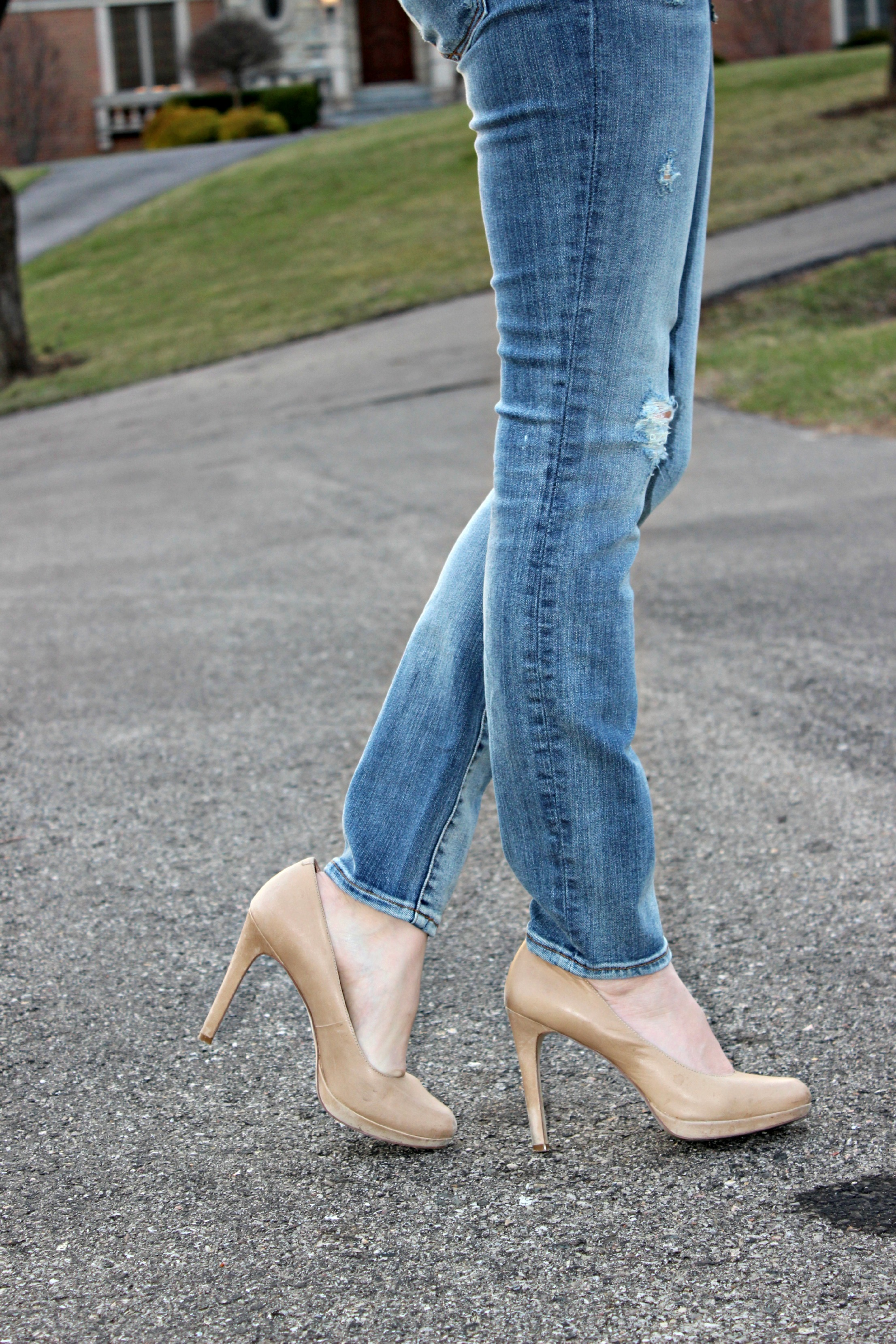 Distressed Jeans | baubles to bubbles