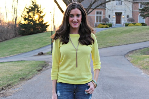 Yellow J.Crew Sweater