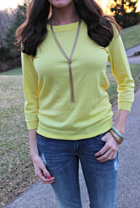 Yellow J.Crew Tippi Sweater