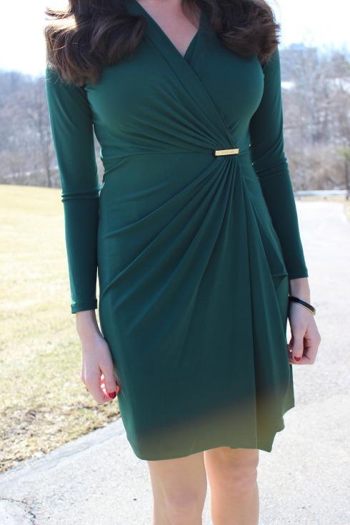 Michael Kors Long Sleeve Wrap Dress
