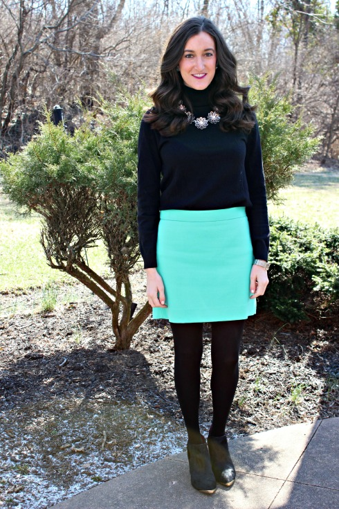 Tiffany Blue Gap Skirt