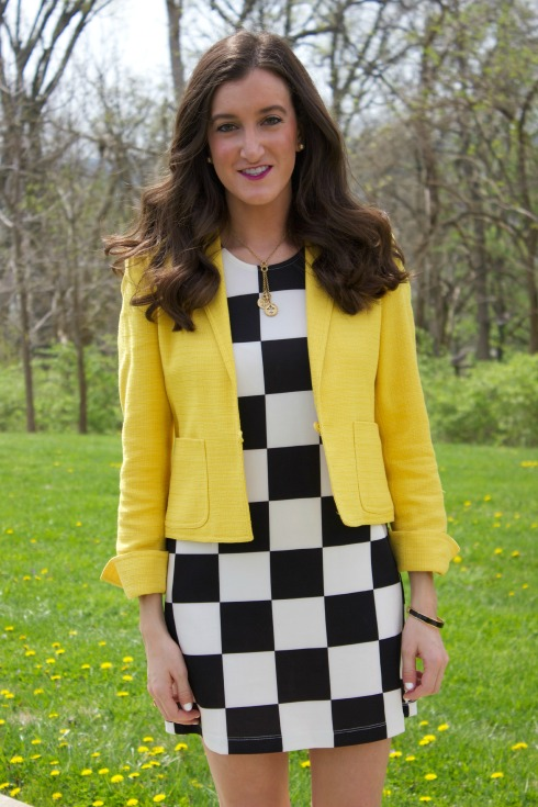 How To wear a Checkered Dress