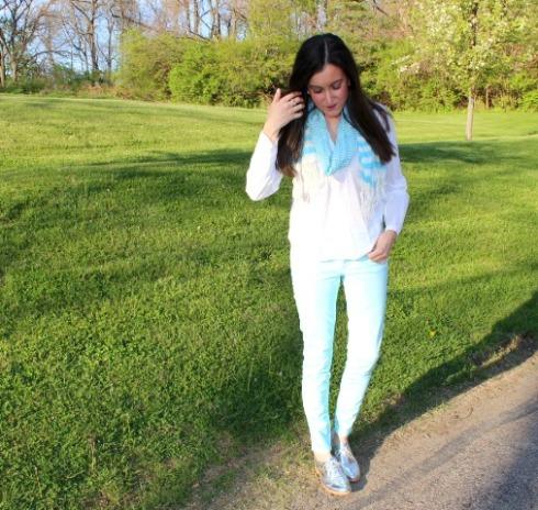 Gap Legging Baby Blue Jeans