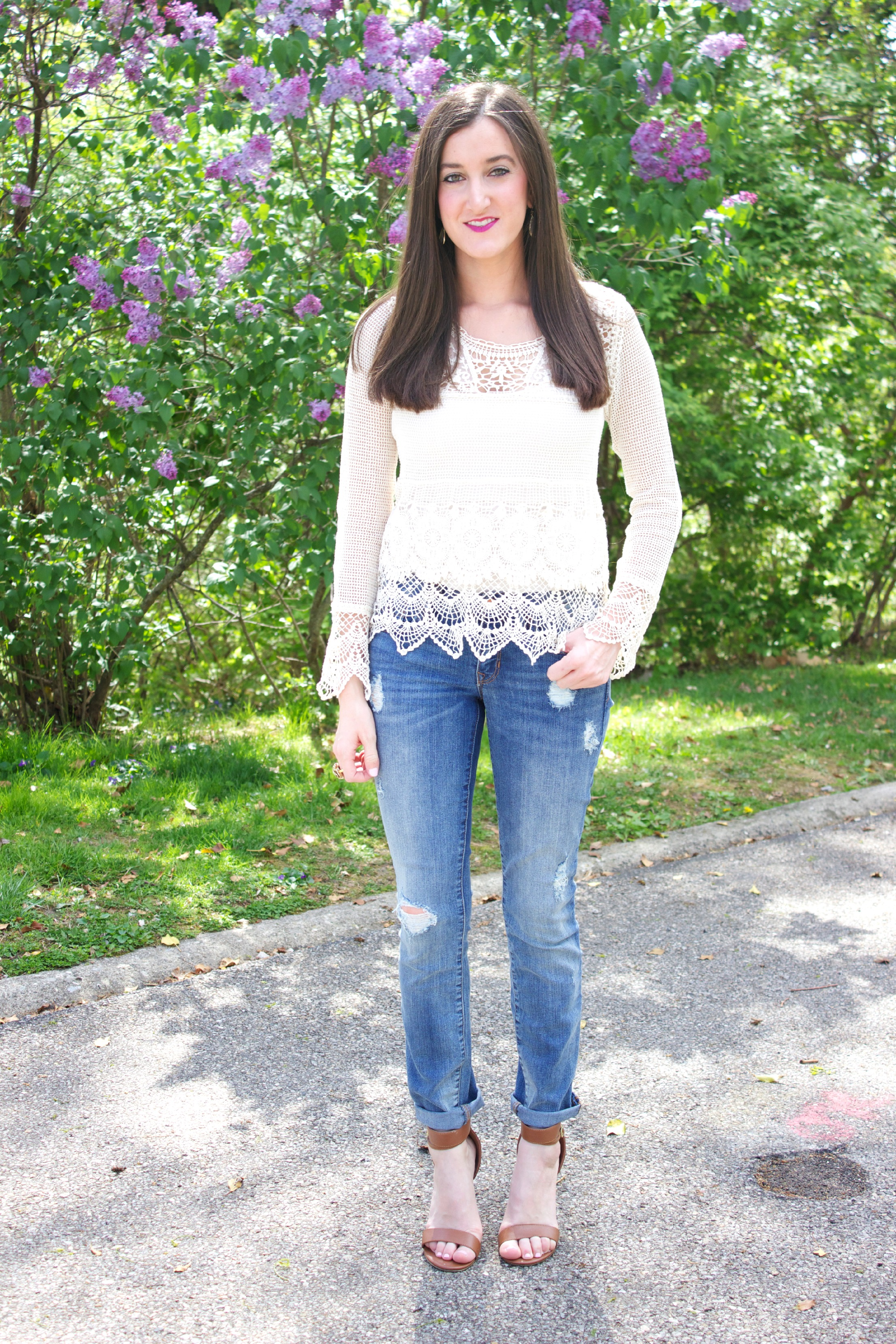 Crochet Jeans : Crocheted & Distressed baubles to bubbles