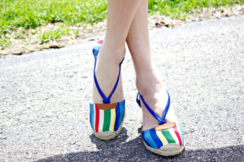 Ralph Lauren Multi Color Espadrille Wedges