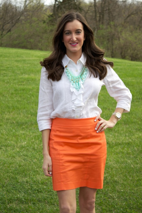 Spring Summer Work Outfit Pencil Skirt