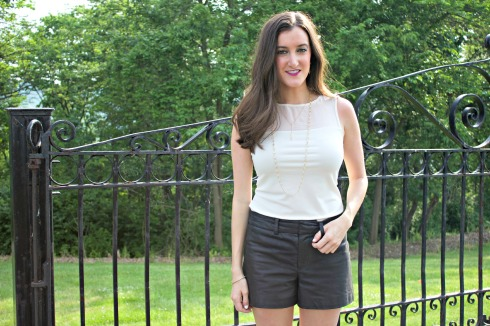 How to Wear Leather Shorts in the Summer