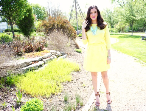 Monochromatic Yellow J.Crew Outfit
