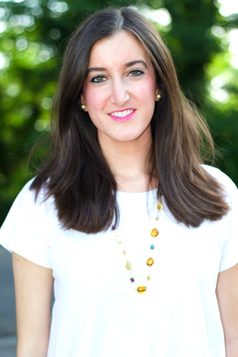 Colorful Necklace with J.Crew Silk Cotton Tee