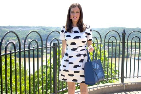 French Connection Summer Bark Dress Rebecca Minkoff Medium MAB Tote