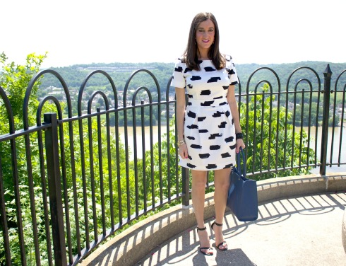 French Connection Summer Bark Printed Dress